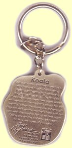 Quality koala key chain with koala facts