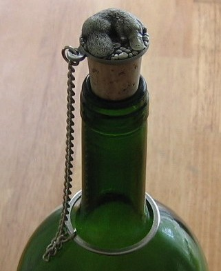 pewter platypus wine stopper