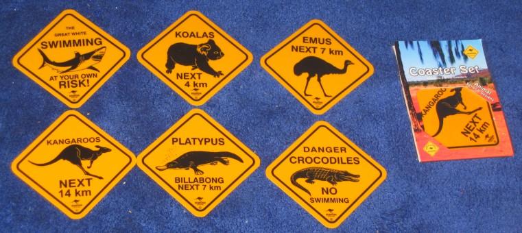 Australian Road Signs Coasters