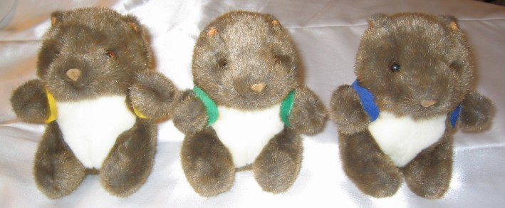 3.5 inch beanie wombat toys in corporate custom printed vests