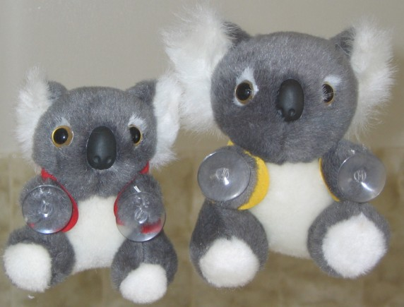 Koala toys with suctions on hands in corporate custom printed vests