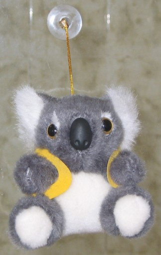 koala toy with head suction in corporate custom printed vest