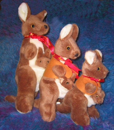 8-15 inch (medium to large) kangaroo toys