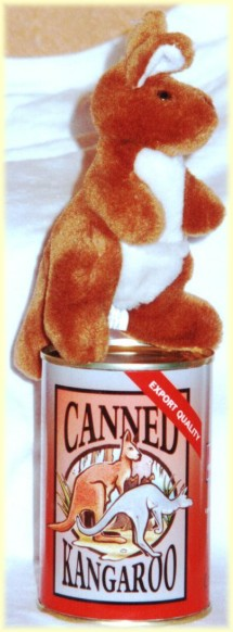 Canned kangaroo | Kangaroo toy in can