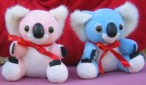 Pink and blue koalas
