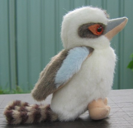 Small laughing kookaburra toy