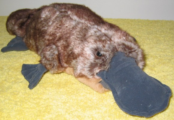 superior quality soft platypus toy