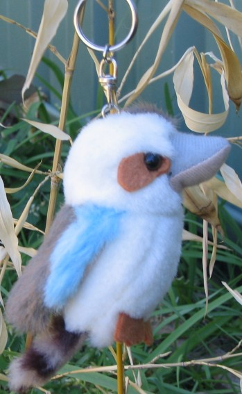 kookaburra soft key ring